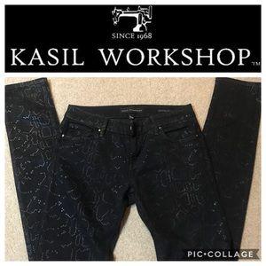 Kasil Workshop Black Benatar Skinny Jeans, 28